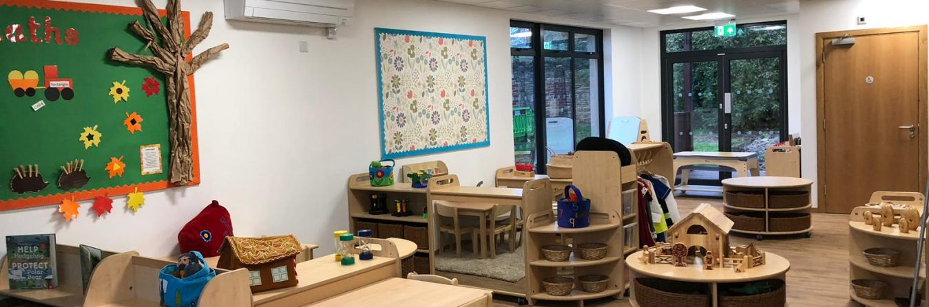 Our room setup at Sherston Pre-School